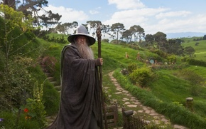 Wallpaper Gandalf, grandfather, The Hobbit: An Unexpected Journey, The hobbit: an Unexpected journey, the sorcerer, Ian ...