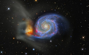 Picture galaxy, The Dogs Of War, M 51, Whirlpool, in the constellation