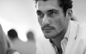 Picture mustache, look, model, bristles, David Gandy, David Gandy