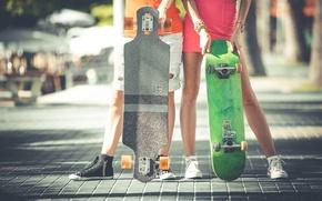 Picture people, feet, sport, woman, male, Board, skate, bridge, skateboard, longboard, hobby