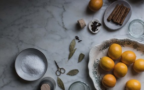 Picture lemon, salt, spices, preserve