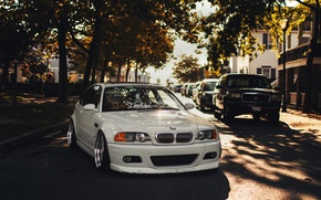 Picture E46, tuning, white, BMW, BMW, white