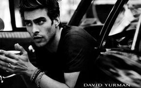 Picture car, model, b/W, guy, model, the Spaniard, male, Jon Kortajarena, black &white, John Kortajarena