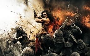 Wallpaper battle, swords, hats, warriors, Conan