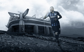 Picture wallpaper, sport, stadium, football, San Siro, player, Inter Milan, Mauro Icardi
