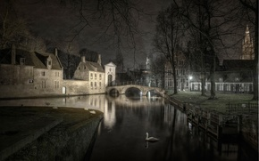 Picture night, Belgium, Bruges, Love Lake