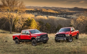 Picture forest, SUV, Dodge, two, pickup, Ram, 2500
