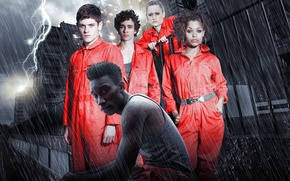 Picture the storm, rain, Wallpaper, zipper, lightning, wallpaper, the series, bad, misfits, scum, losers, Lauren Socha, …