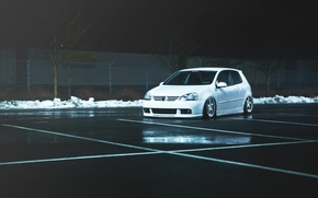 Picture white, Golf, golf, Volkswagen, Volksvagen, mk5