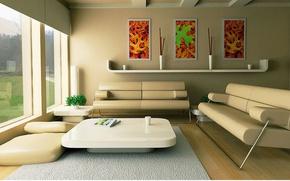 Picture design, modern, living room, interior, home