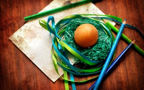 Picture paper, tape, tree, holiday, egg, pencils, Easter, socket, Easter