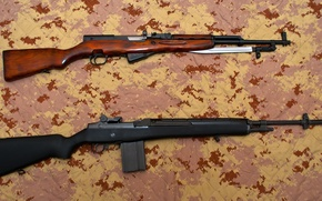 Picture weapons, rifle, self-loading, carabiner, semi-automatic, SKS, M14, Simon