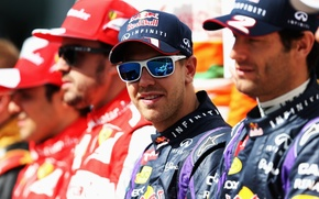 Picture Glasses, Racer, Vettel, Champion, Formula One racing drivers