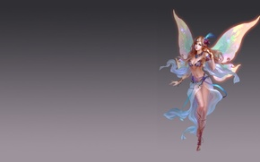 Picture girl, fantasy, the game, wings, art, costume