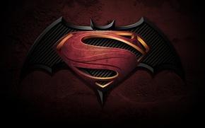 Picture logo, Ben Affleck, comics, Henry Cavill, Dawn of Justice, Batman vs Superman, 2016, Zack Snyder, …