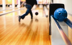 Picture track, sports, launch, Bowling, depth of field, bowling balls