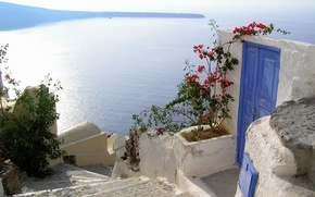 Picture the city, Greece, the door, stage, Santorini, Oia