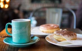 Picture coffee, chocolate, mug, cake, cream, dessert