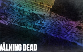 Picture the inscription, street, Apocalypse, the series, the walking dead, the walking dead
