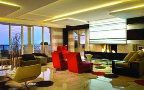 Picture design, house, style, room, Villa, interior, living room