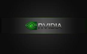 Picture green, Nvidia, black, Logo
