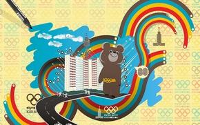 Wallpaper USSR, Olympics, Bear