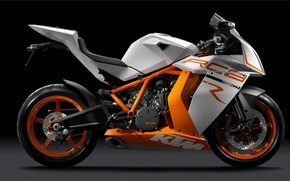 Wallpaper KTM RC8, the dark background, Motorcycle
