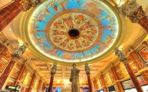 Picture lights, Las Vegas, statue, USA, casino, column