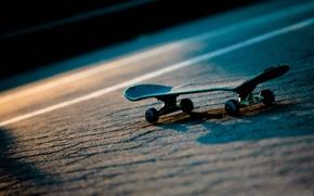 Wallpaper road, light, night, sport, skate, skateboard