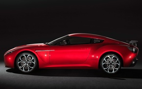 Picture red, Aston martin, zagato