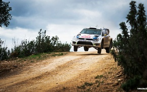 Picture Auto, Road, White, Volkswagen, Speed, WRC, Rally, Polo, Overcast, Ancestor, Andreas Mikkelsen