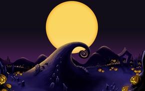 Picture The moon, Pumpkin, Moon, Pumpkin, Jack Skellington