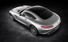 Picture silver, mercedes benz, coupe, 2015, amg gt