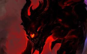 Picture darkness, fire, the demon, art, evil, Gull, Demon Kaiju