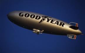 Wallpaper the airship, airship, Goodyear, dirigible
