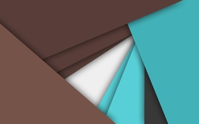 Picture abstraction, blue, geometry, brown