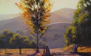 Wallpaper Art, Artsaus, Figure, Afternoon Kanimbla Valley
