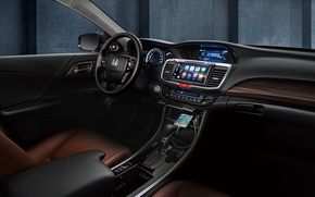 Wallpaper interior, Honda, Concept, Accord, Honda, torpedo, panel, salon, chord, the wheel