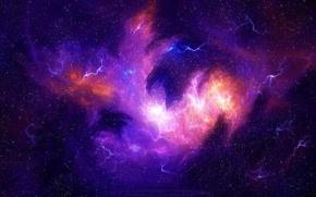 Picture the sky, stars, light, nebula, the universe