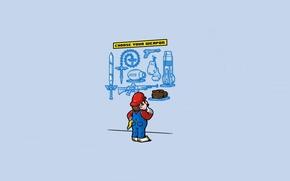 Wallpaper Weapons, Art, Game, The game, Choice, Mario, Mario, Minimalism, Minimalism, Art, Humor