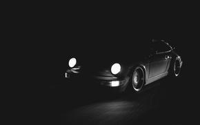 Picture 911, Porsche, Speed, Headlights, Carrera 2, (964), Dimensions, In The Darkness