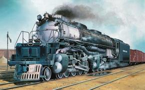 Picture art, train, painting, UP-Klasse 4000