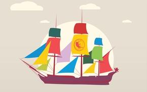 Picture sea, ocean, life, spirit, ship, history, weave, pirat, canvaz
