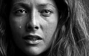 Picture sadness, girl, portrait, tear