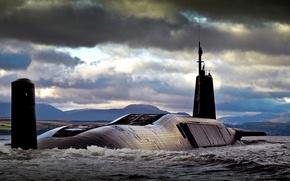 "Picture boat, underwater, atomic, type, HMS Vengeance, ""Vanguard"""