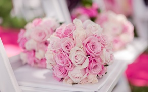 Picture roses, buds, wedding bouquet