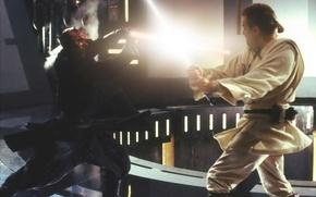 Picture Star Wars, star wars, Obi-Wan Kenobi, Darth Maul