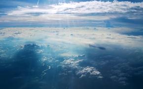 Wallpaper the sky, clouds, light, landscape, blue, Wallpaper, heaven, Paradise, light, beautiful, sky, beautiful, blue, the ...