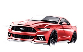 Picture Mustang, Ford, The sketch, 2015