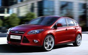Picture machine, Ford, Ford, red, hatchback, focus3